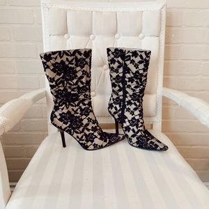 Vintage Tall Lace Booties